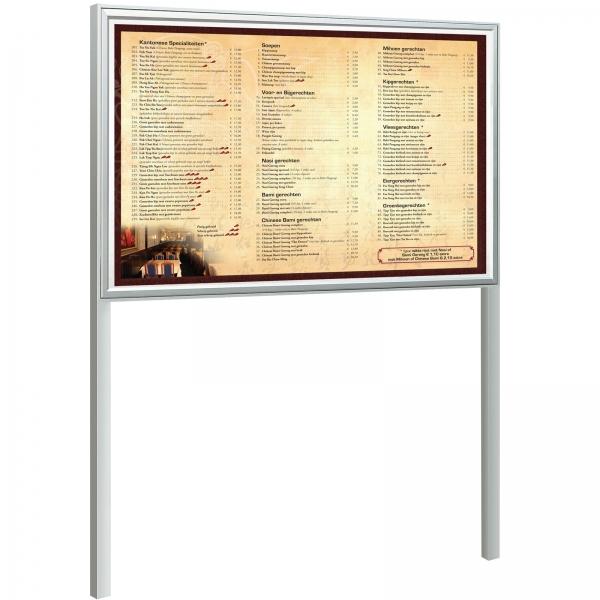 Vitrine voor buiten met staanders 21 x  A4 100 x 160 x 7,5 cm