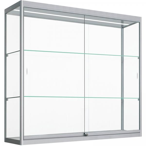 Kleine Glazen Vitrinekastjes.Vitrinemasters Com Hang Vitrinekast Met Ledstrip 80cm X 120cm X 25cm
