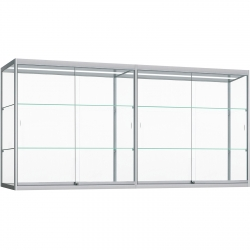 Wand Vitrinekast met ledstrips 80 x 280 x 30