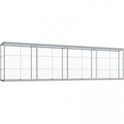 Wand Vitrinekast met ledstrips 80 x 400 x 30