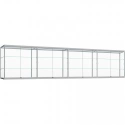 Wand Vitrinekast met ledstrips 80 x 480 x 30
