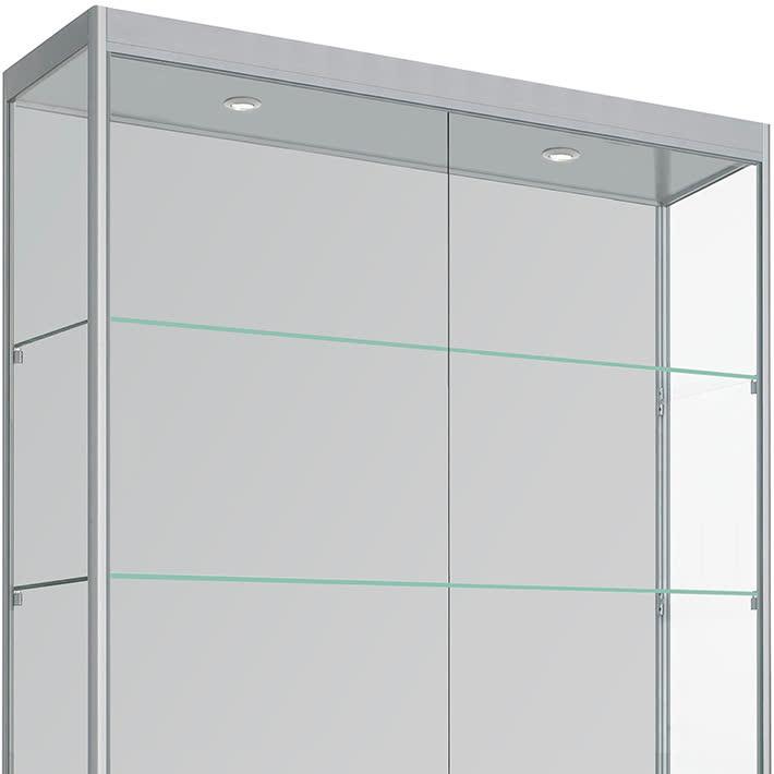 Grote Glazen Vitrinekast.Vitrinemasters Com Vitrinekast 200cm X 20cm X 40cm